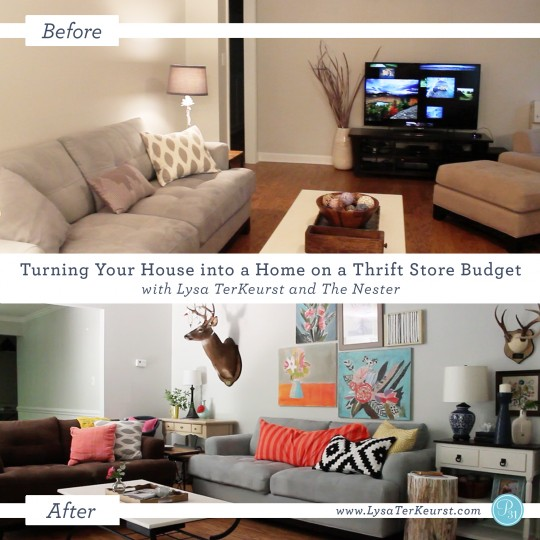 Turning a House into a Home on a Thrift Store Budget: Day 3