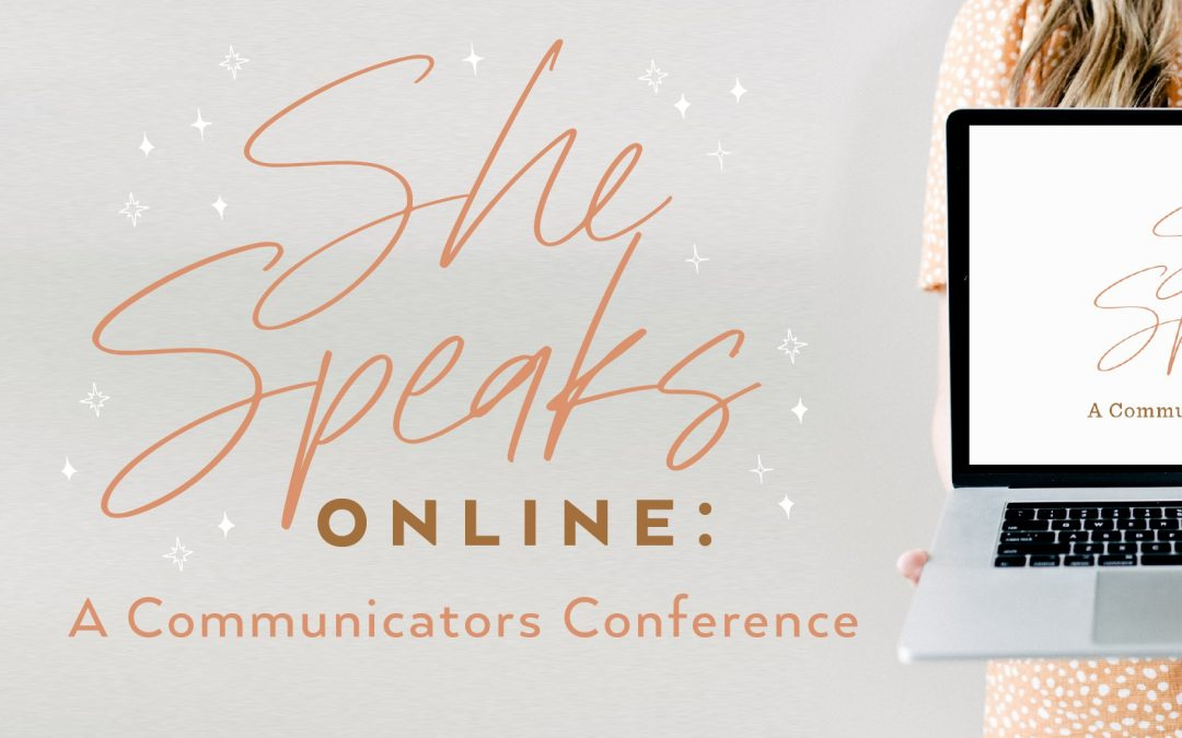 Join Me for She Speaks Online!